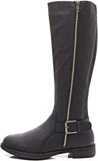 Women's Cherie Round Toe Low Heel High Ridinig Boots