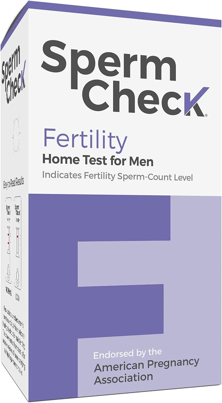 Spermcheck Fertility Home Test Kit for Men- Shows Normal or Low Sperm Count- Easy to Read Results-Convenient, Accurate, Private