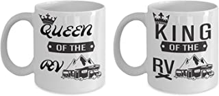 Mug for Husband Wife King and Queen of RV Mug Set -11OZ Coffee Mug
