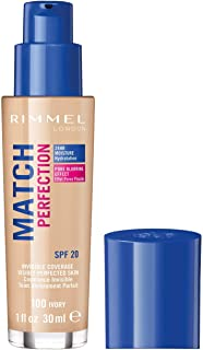 Best Rimmel London Match Perfection Foundation Spf20 100 Ivory 30ml Review