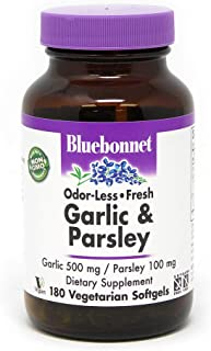 BlueBonnet Garlic and Parsley Softgels, 500 mg, 250 Count