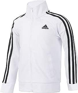 Girls 4-6x Side Stripe Black & Pink Tricot Lightweight Jacket