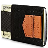 Wallets for Men - Mens Wallet - Slim Small Thin Minimalist Card Holder Wallet [ECSC-B]