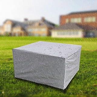 SKEIDO Square Garden Furniture Covers With Drawstring, Waterproof, Windproof, Dustproof, Snowproof & Anti-UV, Patio Furnit...