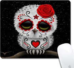 Beemars Desk Mouse Pad, Personalized Cartoon Owl Keyboard Rectangle Mouse Pad - Cartoon Owl Mouse Mat