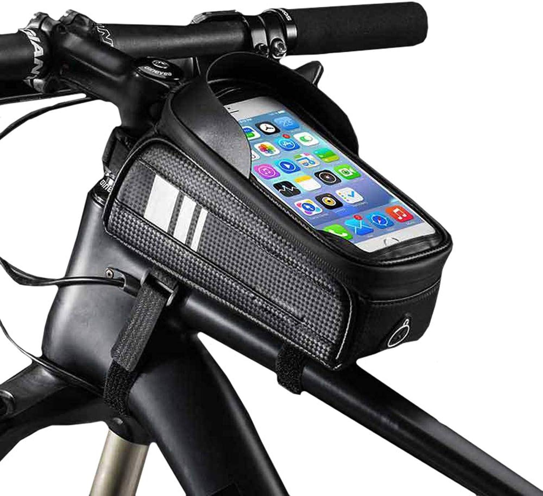 Bicycle Handlebar Bag Waterproof Bicycle Front Top Tube Pack Touchscreen Bag Phone Storage Package Bike Handlebar Frame Packet