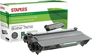 STAPLES Remanufactured Toner Cartridge Replacement for Brother TN750 (Black)
