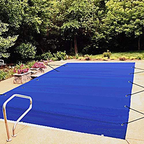 VEVOR Cubierta de Seguridad para Piscina, Tamaño de 4 x 8 m Cobertor de Piscina Rectangular, Tamaño de Piscina de 3,7 x 7,7 m Lona de Piscina de PVC Azul, Fácil de Instalar y Prevenir Escombros