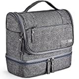 Toiletry Bag, VAGREEZ Upgraded Hanging Travel Toiletry Organizer Kit with Heavy-duty Zippers Waterproof...