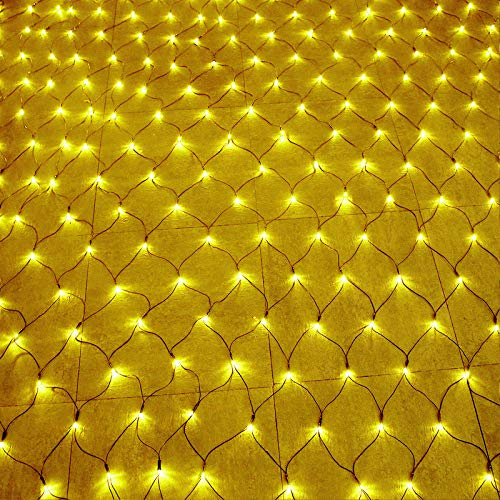 HENGMEI 6 x 4 m LED Lichternetz 672 LEDs Lichterkette Vorhang Lichter Netz Beleuchtung Deko Weihnachten für Innen und Außen, Halloween,...