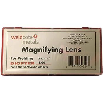 "Weldcote Metals 2.50 Glass Magnifying Lens 2 x 4-1//4/"""