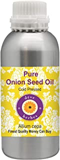 Deve Herbes Pure Onion Seed Oil (Allium cepa) 100% Natural Therapeutic Grade Cold Pressed for Hair, Scalp, Skin and Massage 1250ml (42 oz)