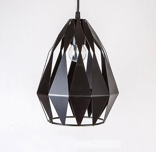 Rétro lampe suspension plafonnier suspension créatifs Vintage Fer Loft Creuser Noir éclairage décoratif pour le salon salle à hommeger cuisine Cafe Bar E27(sans ampoule)