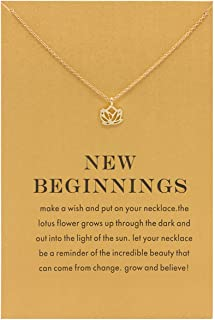 Aikooch Dainty Pineapple Necklace Anchor Friendship Pendant Wish Card for Women