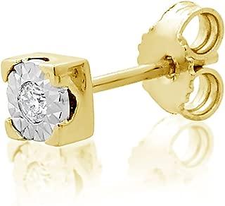 ∞ Mono Pendiente Oro y Diamantes Mujer Hombre - Oro Amarillo 9 Kt 375 ∞ Diamantes 0.015 Kt - joyas de fantasía