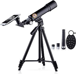 新しいアップグレード 子供用望遠鏡 HD 70X 天体屈折望遠鏡 - 調整可能な三脚,電話アダプター,ムーンマップ,ムーンフィルター,コンパス