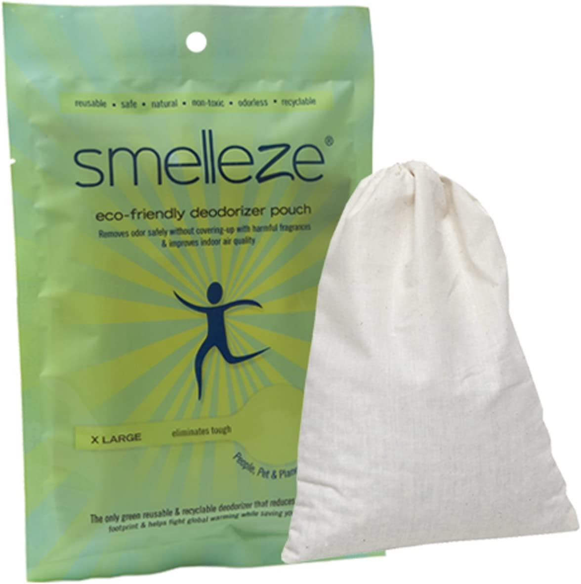 SMELLEZE Choice Reusable Toilet Odor Removal Rids Pouch: Res New life Deodorizer