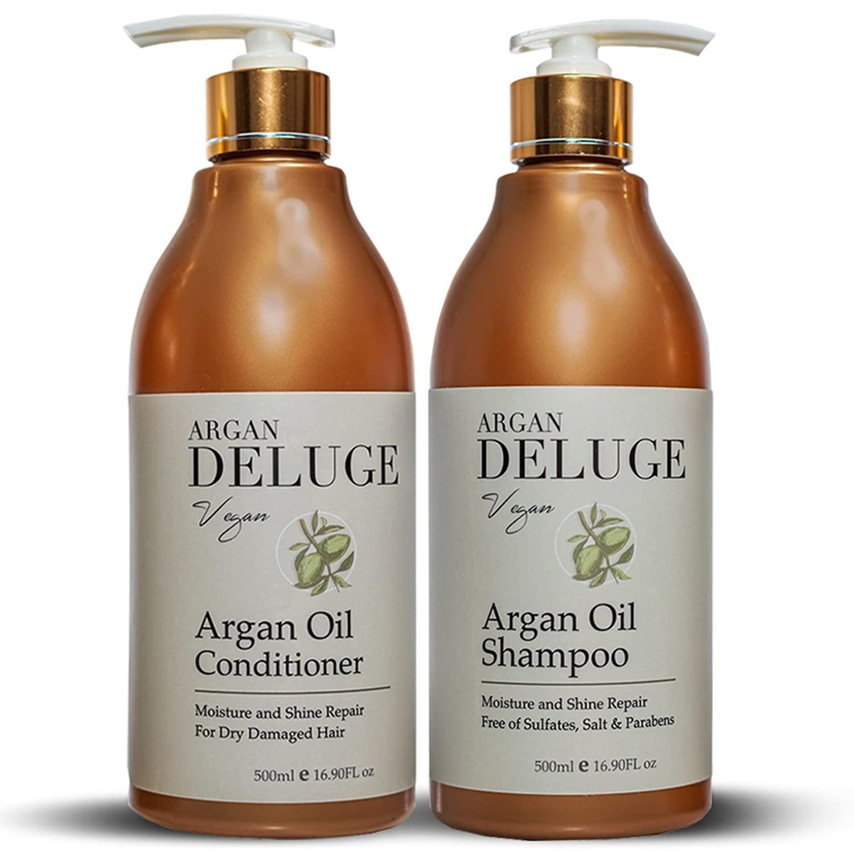 DELUGE - Argan Oil Shampoo San Diego Mall Ultra Sale S Conditioner. Moisture and