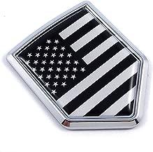 USA Black Monochrome American Flag Car Auto Chrome Emblem Decal Badge 3D Sticker