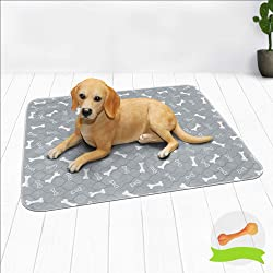 Niubya Washable Dog Pee Pads, Waterproof Reusable Puppy Pad, Super Absorbent Pet Pee Pads for Training, Travel, Whelping, Waterproof Doggy Pee Pads