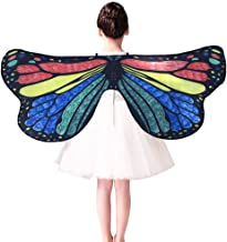m·kvfa Kids Child DIY Butterfly Cape Wings Creative Angel Wings Dress up Costume Birthday Gifts for Kids