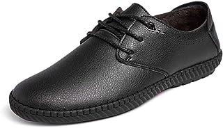 YANGFAN Zapatos de Cuero, Zapatos Casuales, Trabajo, al ai Zapatos de Oxford de los Hombres Zapatos Formales de Cuero de M...