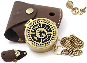 Roorkee Instruments India Engraved Compass, Compass Gifts, Best Gift for Fire Fighter, Birthday, Mothers Day, Fathers Day,Fire Fighter, Wedding Gifts