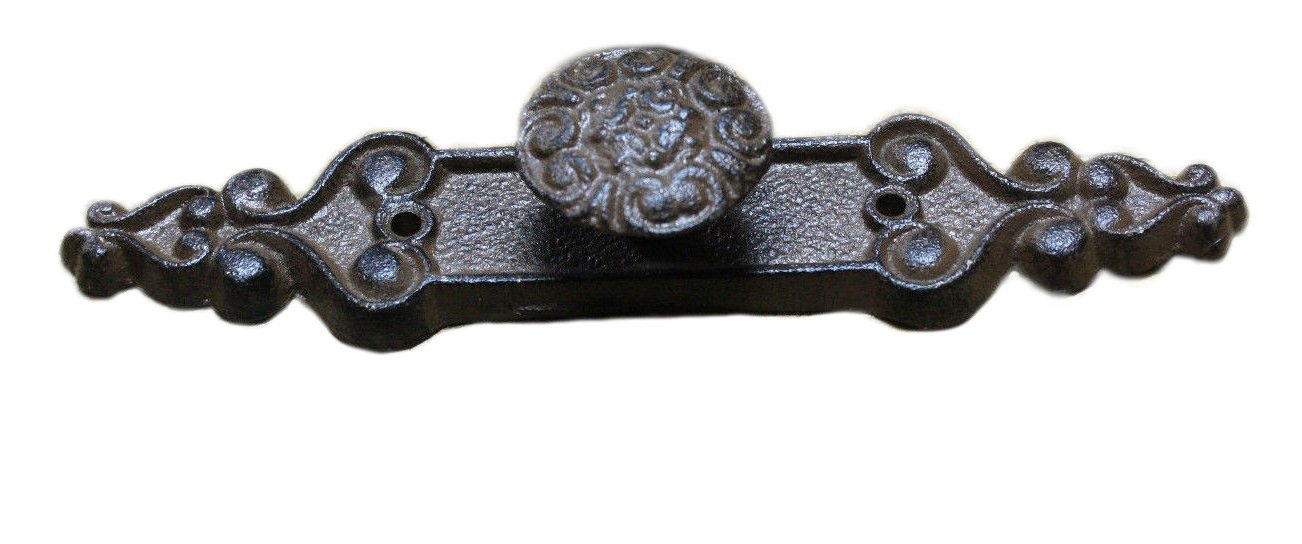 8 Cast Iron Antique Style Barn Handle Drawer Pull Shed Door Handles BACK PLATE