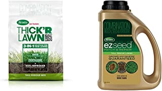 Scotts 30075 Turf Builder Thick`R Lawn Tall Fescue Mix, 40 lbs. + EZ Seed 17511 Tall Fescue 3.75lb