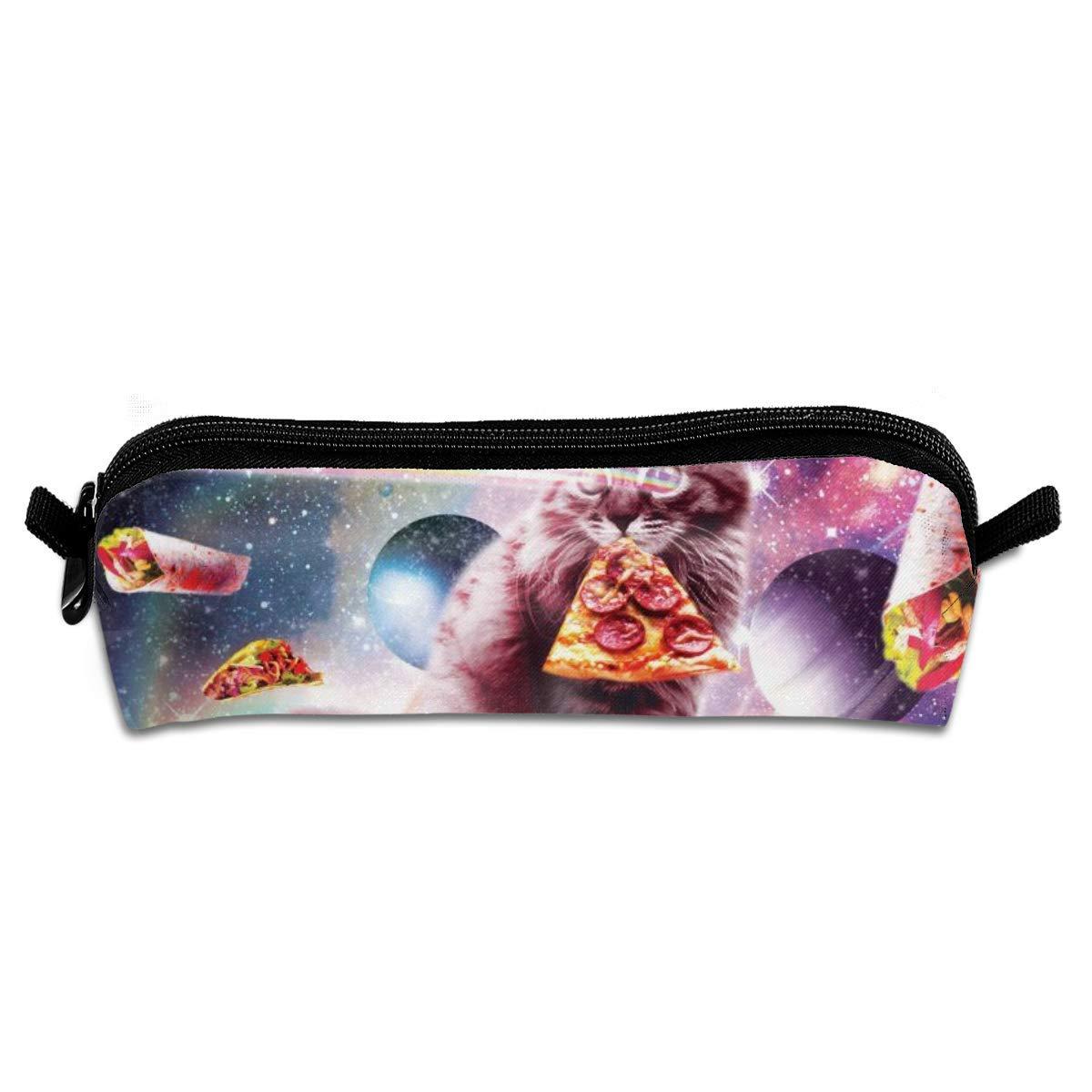 Pizza de gato espacial Estuche para estudiantes Estuche para lápices Estuche con cremallera Bolsa de papelería Bolsa pequeña de maquillaje cosmético: Amazon.es: Oficina y papelería