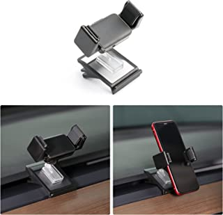 Carwiner Memory Cellphone Mount for Tesla Model 3 Model Y Dashboard Clip Safety Silicone Base Cell Phone Holder Stand