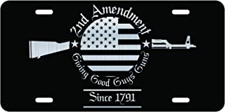 DHDM Second Amendment Since 1791 License Plate Tag Vanity Novelty Metal | Etched Metal | 6-Inches by 12-Inches | Car Truck RV Trailer Wall Shop Man Cave | VLP461