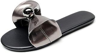 Dames kraal decor platte slip op sandalen dames strik mode zomer koele slippers voor casual outdoor