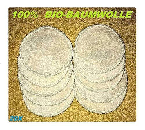 Uzman-Versand 20 make-uppads wasbaar 100% biologisch katoen herbruikbare wattenpads huidverzorging make-up remover pads oogpads cosmeticapads make-up doekjes gezicht