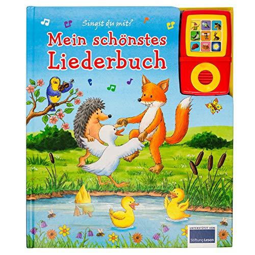 Mein schönstes Liederbuch - Pappbilderbuch und abnehmbarer Musikspieler - Liederbuch mit 15 beliebten Kinderliedern