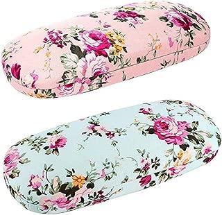 2 Pcs Case Spectacle Case Box Fabrics Floral Portable Hard Eyeglass