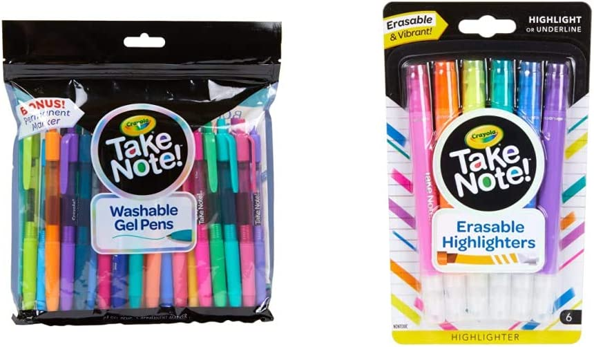 Crayola Colored Gel Direct store Wholesale Pens Washable Stocking T for Stuffers