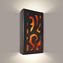 product image for ReFusion Cathedral 1 Light Wall Sconce Finish: Gunmetal and Fire