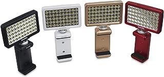 Commlite CM-L50 撮影用LED ミニビデオライト(スマホ,一眼レフカメラ,Gopro etc.兼用)(薄型/小型/充電式)「50球のLED搭載/8段階の光量調整/3色フィルターで色温度調整」」【正規品/1年保証】 (ブラック)