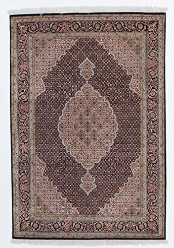 Nain Trading Indo Täbriz Royal 207x143 Orientteppich Teppich Beige/Lila Handgeknüpft Indien