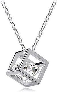 Damen Statement Halskette 925 Sterlingsilber versilbert Collier Geschenk elegant