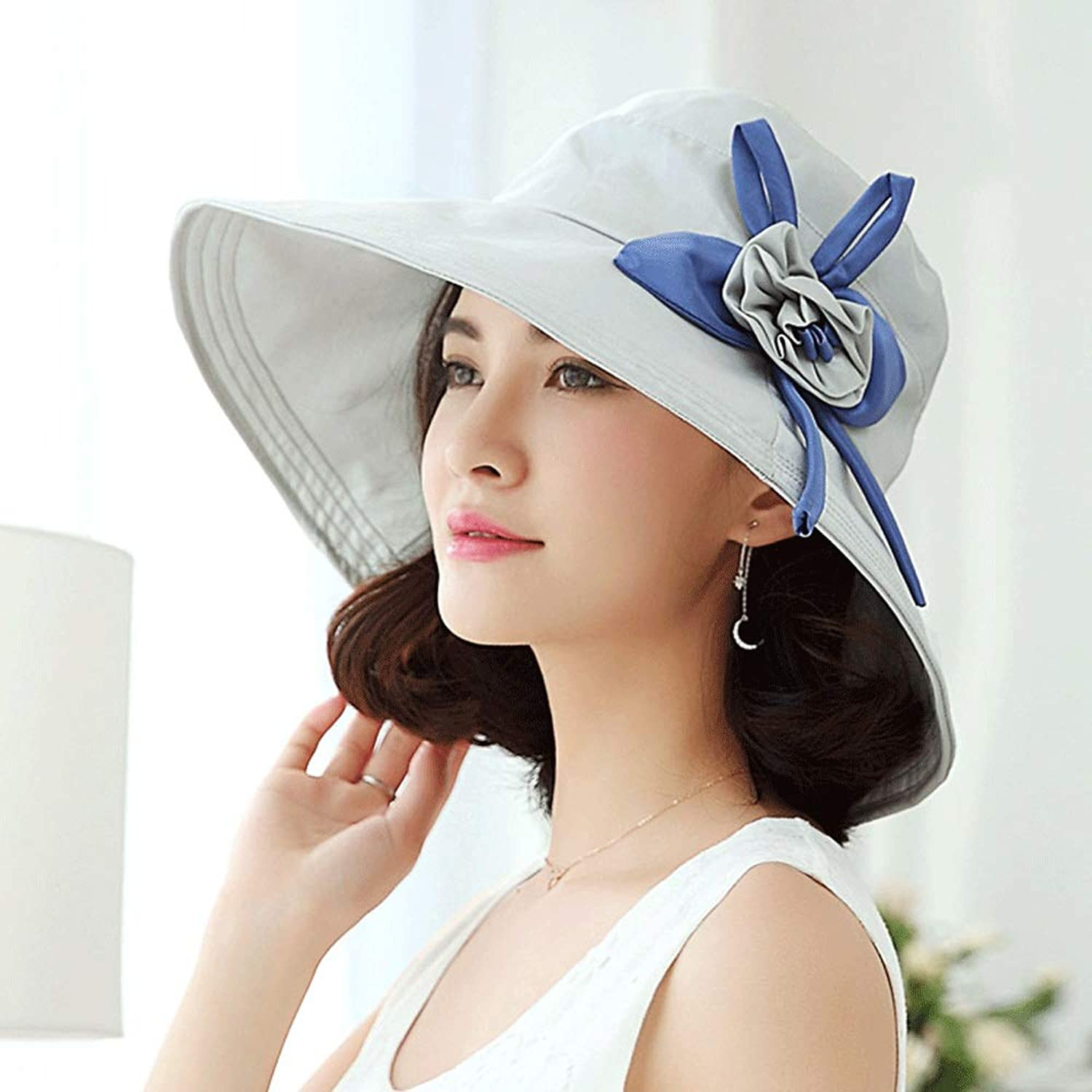 YD Hat  Women's Summer Travel Sun Hat Wild Sunshade Fisherman Hat UV Predection Foldable Sun Hat (5 colors to Choose from)    (color   D)
