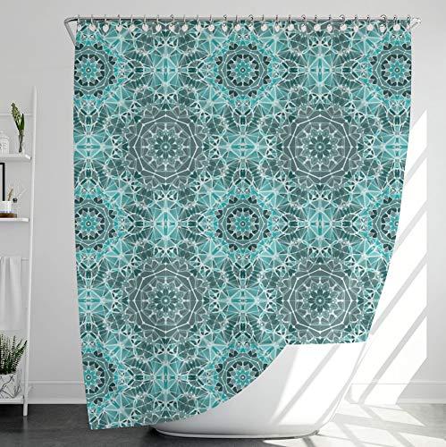 INNObeta Textil Duschvorhang mit 12 duschvorhangringe, antischimmel, wasserabweisend, wasserdicht, strapazierfähig, Bad Dekor, Maschinenwaschbar, 180x200 cm, Blaugrün