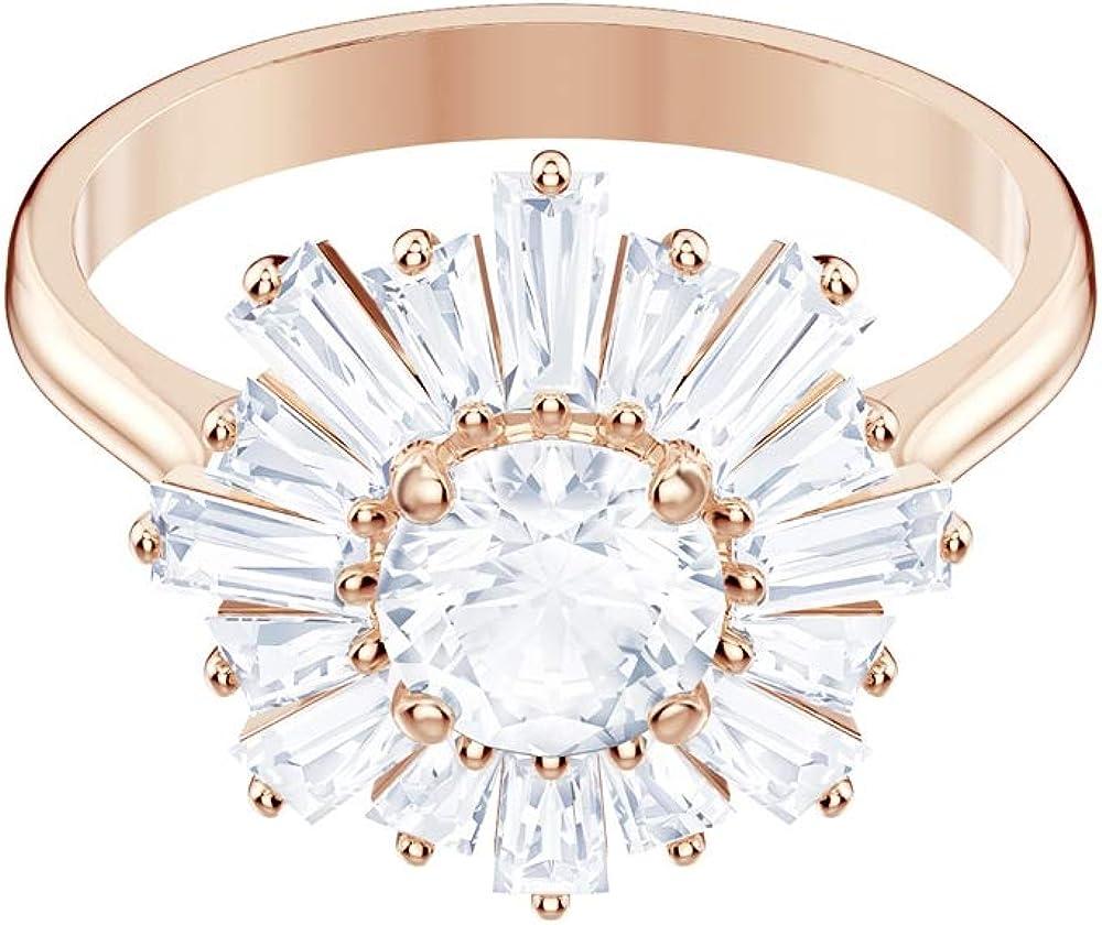 Swarovski anello sunshine placcato oro rosa 5474918