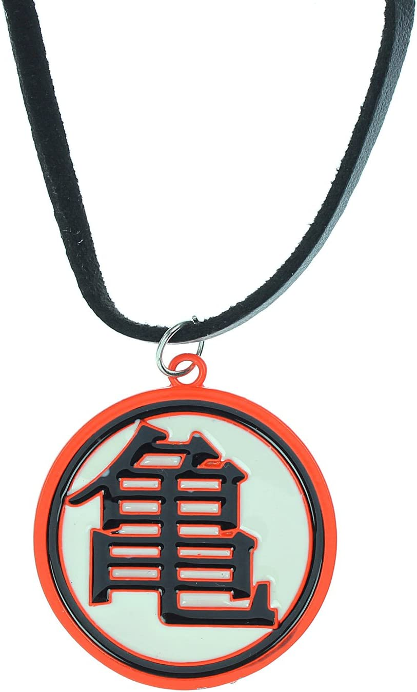 POPE Dragonball Z Orange/White Turtle Symbol Necklace