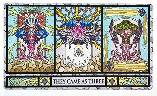 Inked Playmats Stained Glass Titans Playmat Inked Gaming TCG Game Mat for Cards