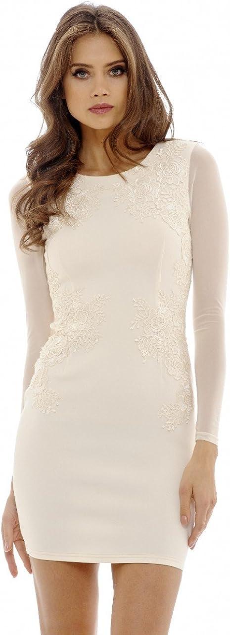 AX Max Sale Special Price 86% OFF Paris Women's Lace Dress Feature Bodycon