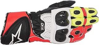 Alpinestars GP Plus R Leather Gloves Black/White/Yellow/Red LG