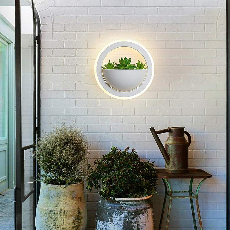Perfekt Nordic Led Wandleuchte Schlafzimmer Nachttischlampe Moderne Minimalistische Grüne Kreative Pflanze Wandleuchte Gang Dekorative Wandleuchte schn (Farbe   A)