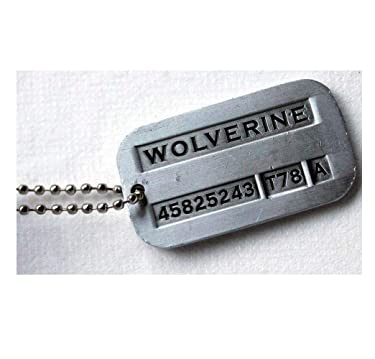 Tojwi Male Cool Kpop X-Men Wolverine Necklace Vintage Weapon-X Dog Tags Pendant - Fashion Design